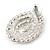 Statement Clear/ Black CZ Teardrop Stud Earrings In Rhodium Plating - 35mm L - view 4