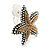 2 Tone Textured Starfish Clip-on Earrings - 20mm - view 3