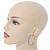 Two Row Crystal Hoop Earrings In Gold Tone - 45mm D - view 5