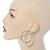Two Row Crystal Hoop Earrings In Gold Tone - 45mm D - view 2