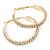 Two Row Crystal Hoop Earrings In Gold Tone - 45mm D - view 4
