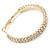 Two Row Crystal Hoop Earrings In Gold Tone - 45mm D - view 3