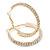 Two Row Crystal Hoop Earrings In Gold Tone - 45mm D - view 6