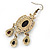 Multicoloured Acrylic Bead Chandelier Earrings In Antique Gold Tone - 75mm L - view 4