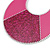 Large Fuchsia Enamel With Glitter Oval Hoop Earrings In Silver Tone - 90mm L - view 3