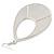 Large Fuchsia Enamel With Glitter Oval Hoop Earrings In Silver Tone - 90mm L - view 4
