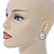 Large Crystal, Pearl Oval Shape Stud Earrings In Gold Plating - 30mm L - view 4