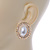 Large Crystal, Pearl Oval Shape Stud Earrings In Gold Plating - 30mm L - view 5