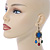 Multicoloured Acrylic Bead Chandelier Earrings In Antique Gold Tone - 75mm L - view 2