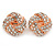 Rose Gold Tone Crystal Knot Clip On Earrings - 20mm D - view 3