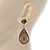 Gold Plated Floral Filigree Teardrop Earrings - 45mm L - view 6