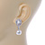 Bridal Wedding Prom Glass Pearl, Crystal Teardrop Earrings In Rhodium Plating - 30mm L - view 5
