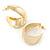 Medium Polished Gold Plated Half Hoop/ Creole Earrings - 37mm L