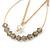 Teardrop Chain with Light Grey Crystal Bead Hoop Earrings In Gold Tone Metal - 70mm L - view 3