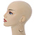 Teardrop Chain with Light Grey Crystal Bead Hoop Earrings In Gold Tone Metal - 70mm L - view 2