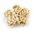 Clear Crystal, Faux Pearl Flower Stud Earrings In Gold Tone - 25mm Diameter - view 5