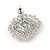 Stunning Clear CZ Square Stud Earrings In Rhodium Plating - 20mm L - view 7