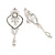 Bridal/ Wedding Stunning Clear Crystal/ CZ Faux Pearl Chandelier Clip On Earrings In Silver Plating - 55mm L - view 4