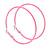 60mm Large Pink Enamel Hoop Earrings