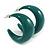 Dark Green Acrylic Half Hoop Earrings - 37mm Diameter