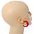 Red Acrylic Half Hoop Earrings - 37mm Diameter - view 4