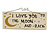 'I LOVE YOU TO THE MOON AND BACK' Love Romance Quote Wooden Novelty Rectangle Plaque Sign Gift Ideas