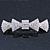 Bridal Wedding Prom Silver Tone Pave-set Diamante 'Bow' Barrette Hair Clip Grip - 85mm Across