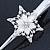Bridal/ Prom/ Wedding Rhodium Plated Clear Crystal Open Flower Hair Beak Clip/ Concord Clip - 13cm Length - view 6
