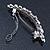 Bridal Wedding Prom Silver Tone Simulated Pearl Crystal 'Love Birds' Barrette Hair Clip Grip - 90mm Width - view 6