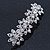 Bridal Wedding Prom Silver Tone Crystal Diamante 'Flower' Barrette Hair Clip Grip - 85mm Across - view 10