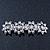 Bridal Wedding Prom Silver Tone Crystal Diamante 'Flower' Barrette Hair Clip Grip - 85mm Across - view 12