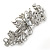 Bridal Wedding Prom Silver Tone Filigree Diamante 'Butterfly' Barrette Hair Clip Grip - 90mm Across - view 7