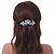 Bridal Wedding Prom Silver Tone Filigree Diamante 'Butterfly' Barrette Hair Clip Grip - 90mm Across - view 5