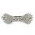 Bridal Wedding Prom Silver Tone Pave-set Diamante 'Contemporary Bow' Barrette Hair Clip Grip - 90mm Across