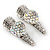 2 Small Rhodium Plated Clear & AB Crystal Heart Hair Beak Clips/ Concord Clips - 35mm Length - view 9