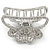 Rhodium Plated AB & Clear Crystal 'Butterfly' Hair Claw - 60mm Across - view 9