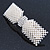 Bridal Wedding Prom Silver Tone Crystal Simulated Pearl 'Bow' Barrette Hair Clip Grip - 90mm Across - view 7