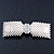 Bridal Wedding Prom Silver Tone Crystal Simulated Pearl 'Bow' Barrette Hair Clip Grip - 90mm Across - view 11