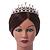 Bridal/ Wedding/ Prom Rhodium Plated Faux Pearl, Austrian Crystal Royal Style Tiara - view 2