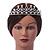 Bridal/ Wedding/ Prom Rhodium Plated Faux Pearl, Austrian Crystal Royal Style Tiara - view 8