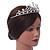 Bridal/ Wedding/ Prom Rhodium Plated Faux Pearl, Austrian Crystal Royal Style Tiara - view 3