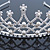 Bridal/ Wedding/ Prom Rhodium Plated Faux Pearl, Austrian Crystal Royal Style Tiara - view 4