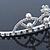 Bridal/ Wedding/ Prom Rhodium Plated Faux Pearl, Austrian Crystal Royal Style Tiara - view 6
