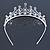 Bridal/ Wedding/ Prom Rhodium Plated Faux Pearl, Austrian Crystal Royal Style Tiara - view 5