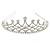 Bridal/ Wedding/ Prom Rhodium Plated Faux Pearl, Austrian Crystal Royal Style Tiara - view 10
