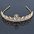 Bridal/ Wedding/ Prom Gold Plated Faux Pearl, Crystal Classic Tiara