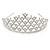 Statement Bridal/ Wedding/ Prom Rhodium Plated Austrian Crystal Tiara - view 5
