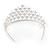Statement Bridal/ Wedding/ Prom Rhodium Plated Austrian Crystal Tiara - view 6