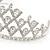 Statement Bridal/ Wedding/ Prom Rhodium Plated Austrian Crystal Tiara - view 4
