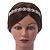 Bridal/ Wedding/ Prom Rhodium Plated Clear Crystal Floral Tiara Headband - view 2